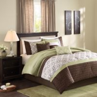 Madison Park Briggs 7-Piece King Comforter Set in Green