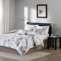 Madison Park Serena Reversible 7-Piece Queen Comforter Set in Blue