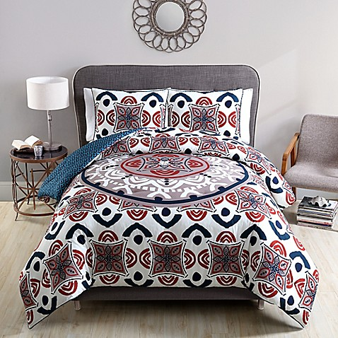 Clairebella mirabelle reversible comforter set in spice for Clairebella
