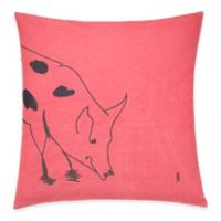 ED Ellen DeGeneres Pig Throw Pillow in Washed Red