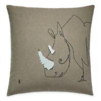 ED Ellen DeGeneres Rhino Throw Pillow in Grey