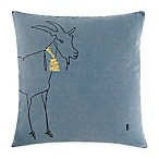 ED Ellen DeGeneres Goat Square Throw Pillow in Medium Blue