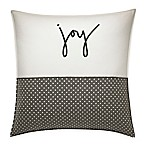 ED Ellen DeGeneres™ Embroidered Joy Throw Pillow in Ivory/Grey
