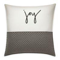 ED Ellen DeGeneres™ Embroidered Joy Throw Pillow in Ivory/Grey
