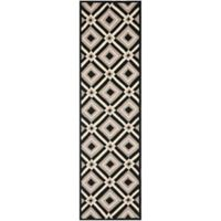 Safavieh Four Seasons Diamonds Indoor/Outdoor Rug in Black/Grey