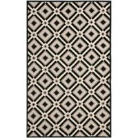 Safavieh Four Seasons Diamonds 3-Foot 6-Inch x 5-Foot 6-Inch Indoor/Outdoor Area Rug in Black/Grey
