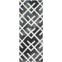Safavieh Dip Dye Angles 2-Foot 3-Inch x 6-Foot Runner in Graphite/Ivory