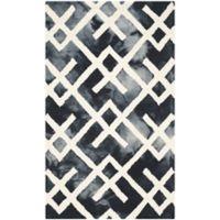 Safavieh Dip Dye Angles 4-Foot x 6-Foot Area Rug in Graphite/Ivory
