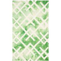 Safavieh Dip Dye Angles 4-Foot x 6-Foot Area Rug in Green/Ivory