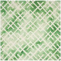 Safavieh Dip Dye Angles 7-Foot x 7-Foot Square Area Rug in Green/Ivory