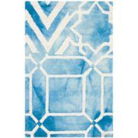 Safavieh Dip Dye Patterns 3-Foot x 5-Foot Area Rug in Blue/Ivory