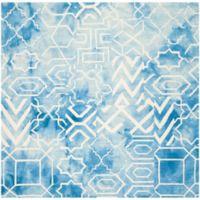 Safavieh Dip Dye Patterns 5-Foot x 5-Foot Square Area Rug in Blue/Ivory