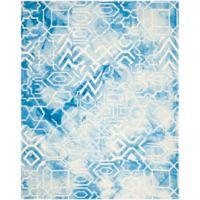 Safavieh Dip Dye Patterns 9-Foot x 12-Foot Area Rug in Blue/Ivory