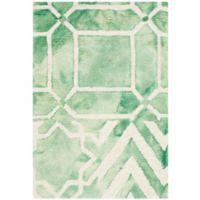 Safavieh Dip Dye Patterns 2-Foot x 3-Foot Area Rug in Green/Ivory
