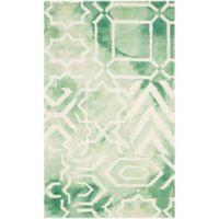 Safavieh Dip Dye Patterns 3-Foot x 5-Foot Area Rug in Green/Ivory