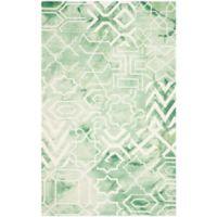 Safavieh Dip Dye Patterns 4-Foot x 6-Foot Area Rug in Green/Ivory