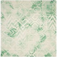 Safavieh Dip Dye Patterns 5-Foot x 5-Foot Square Area Rug in Green/Ivory