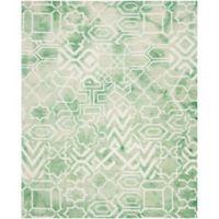 Safavieh Dip Dye Patterns 9-Foot x 12-Foot Area Rug in Green/Ivory