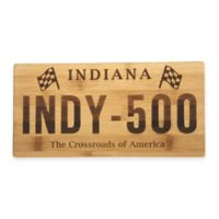Indiana License Plate Bamboo Cutting Board