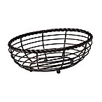 Gourmet Basics by Mikasa® Wire Oval Bread Basket in Black