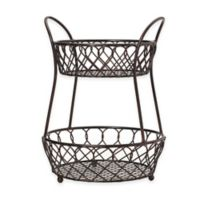 Gourmet Basics by Mikasa® 2-Tier Lattice Countertop Basket in Black