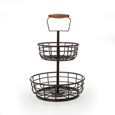 Buy 2 Tiered Fruit Basket from Bed Bath & Beyond