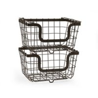 Gourmet Basics by Mikasa® Stacking Organization Baskets (Set of 2)