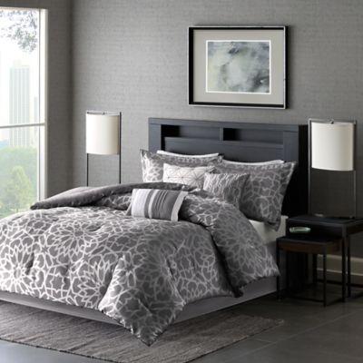 Madison Park 7 Piece Carlow Queen Comforter Set In Grey