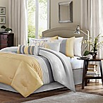 Madison Park Amherst 7-Piece King Comforter Set in Yellow
