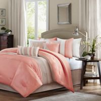 Madison Park Amherst 7-Piece California King Comforter Set in Coral