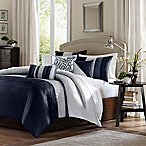 Madison Park Amherst 7-Piece Queen Comforter Set in Navy