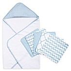 Trend Lab® 6-Piece Dot Hooded Towel and Wash Cloth Set