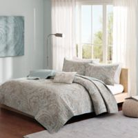 Madison Park Pure Ronan 4-Piece Full/Queen Coverlet Set in Blue