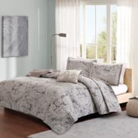 Madison Park Pure Ronan 4-Piece King/California King Coverlet Set in Grey