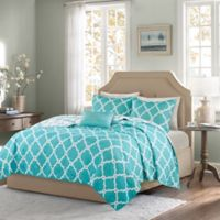 Madison Park Essentials Merritt Reversible King/California King Coverlet Set in Aqua