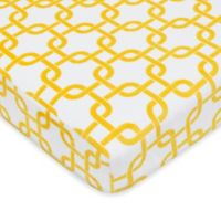 TL Care® Heavenly Soft Chenille Pack 'n Play Playard Fitted Sheet in Golden Yellow Gotcha
