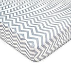 TL Care® Heavenly Soft Chenille Pack 'n Play Playard Fitted Sheet in Grey Zigzag