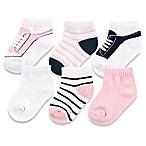 BabyVision® Yoga Sprout™ Size 6-12M 6-Pack No Show Socks in Light Pink