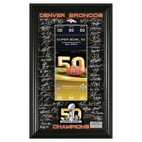 NLF Denver Broncos Super Bowl 50 Signature Ticket
