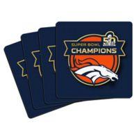 NFL Denver Broncos Super Bowl 50 Champions Coasters (Set of 4)