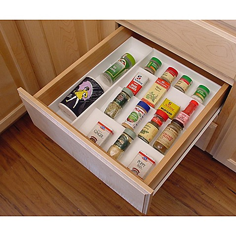 kitchen spice drawer organizer drawer organizer spice rack bed bath amp beyond 6112