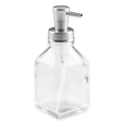 InterDesign® Cora Glass Foaming Soap Dispenser Pump