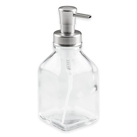 Interdesign 174 Cora Glass Foaming Soap Dispenser Pump Bed