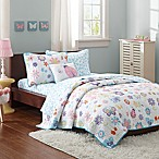 Mi Zone Kids Fluttering Farrah 8-Piece Full Coverlet Set in Blue