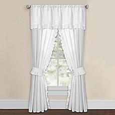 Smoothweave Eyelet Window Curtain Panels With Tie Backs