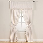 Smoothweave™ 63-Inch Eyelet Rod Pocket Window Curtain Panels with Tie Backs in Ivory