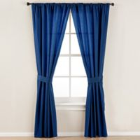 Smoothweave™ 84-Inch Tailored Rod Pocket Window Curtain Panel with Tie Back in Navy