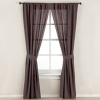 Smoothweave™ 84-Inch Tailored Rod Pocket Window Curtain Panel with Tie Back in Grey