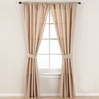 Smoothweave™ 84-Inch Tailored Rod Pocket Window Curtain Panel with Tie Back in Mocha