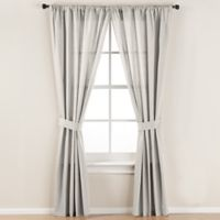 Smoothweave™ 96-Inch Tailored Rod Pocket Window Curtain Panel with Tie Back in Ivory